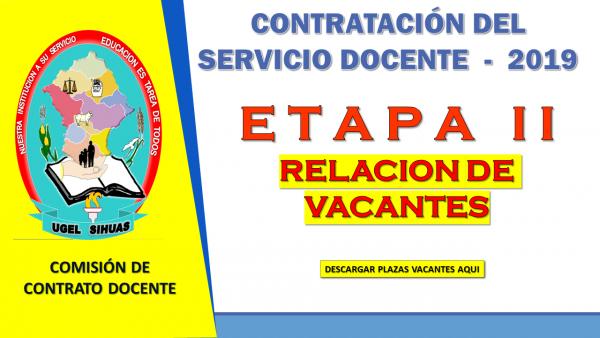 CONTRATO DE SERVICIO DOCENTE – ETAPA II