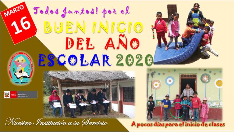 BUEN INICIO DEL AÑO ESCOLAR – BIAE 2020