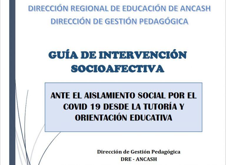 GUÍA DE INTERVENCIÓN SOCIOAFECTIVA