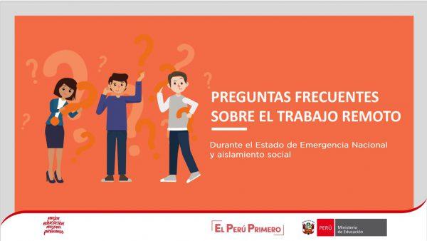 PREGUNTAS FRECUENTES SOBRE EL TRABAJO REMOTO