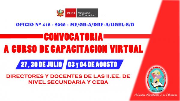 CONVOCATORIA A CURSO DE CAPACITACIÓN