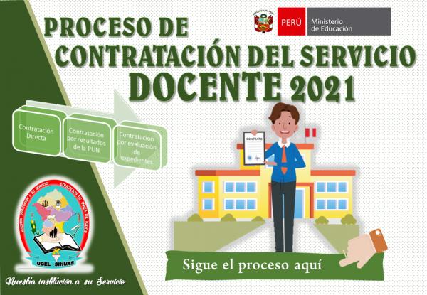 PROCESO DE CONTRATO DOCENTE 2021