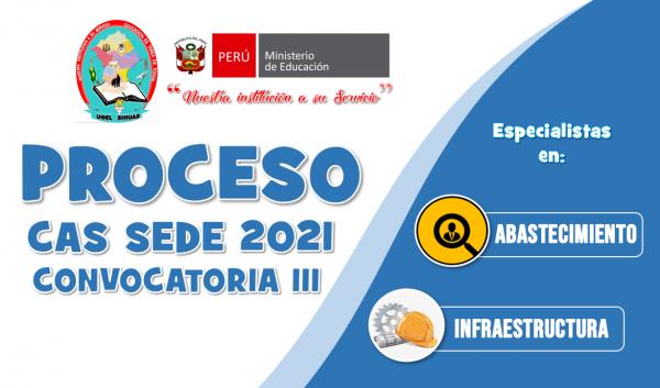 RESULTADO FINAL – PROCESO CONTRATACIÓN CAS SEDE 2021- CONVOCATORIA III