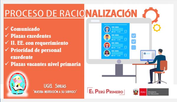 RACIONALIZACION  DE PLAZAS  DE  PERSONAL  DIRECTIVO,  JERÁRQUICA  Y    DOCENTES.